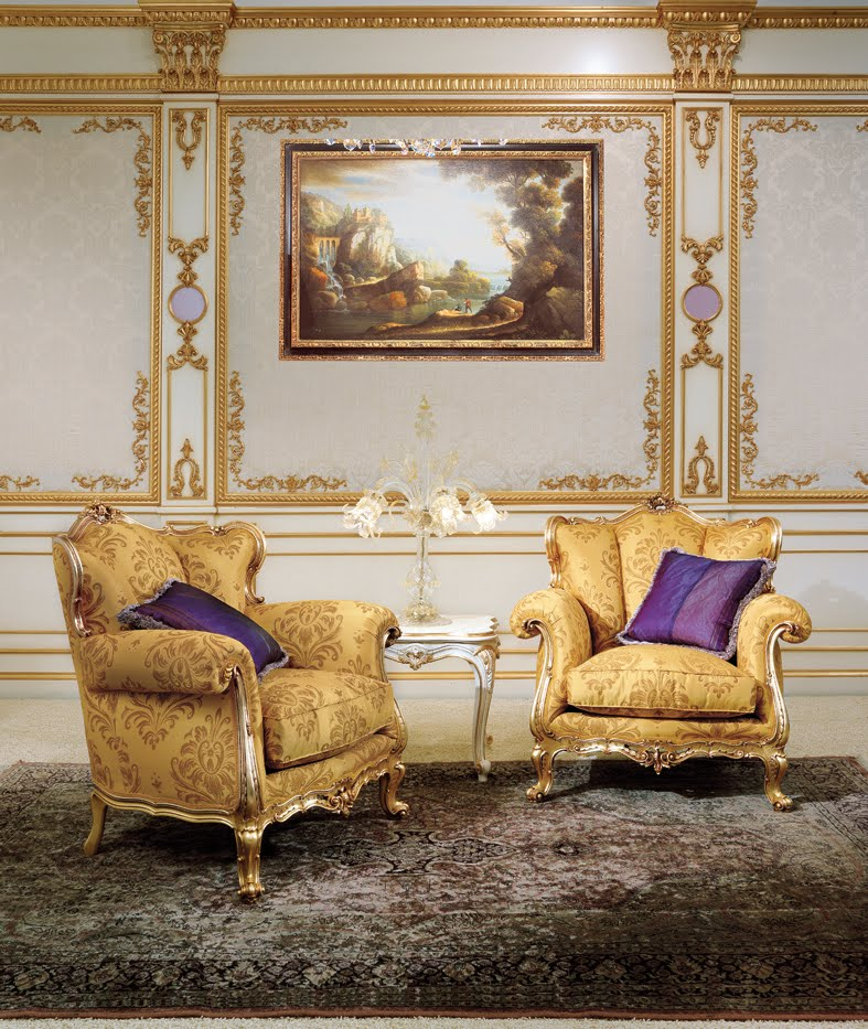 Louis xv style classic bed room french design for Salon louis 15