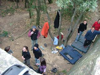 L'équipe du Scalata Nature au secteur Visage