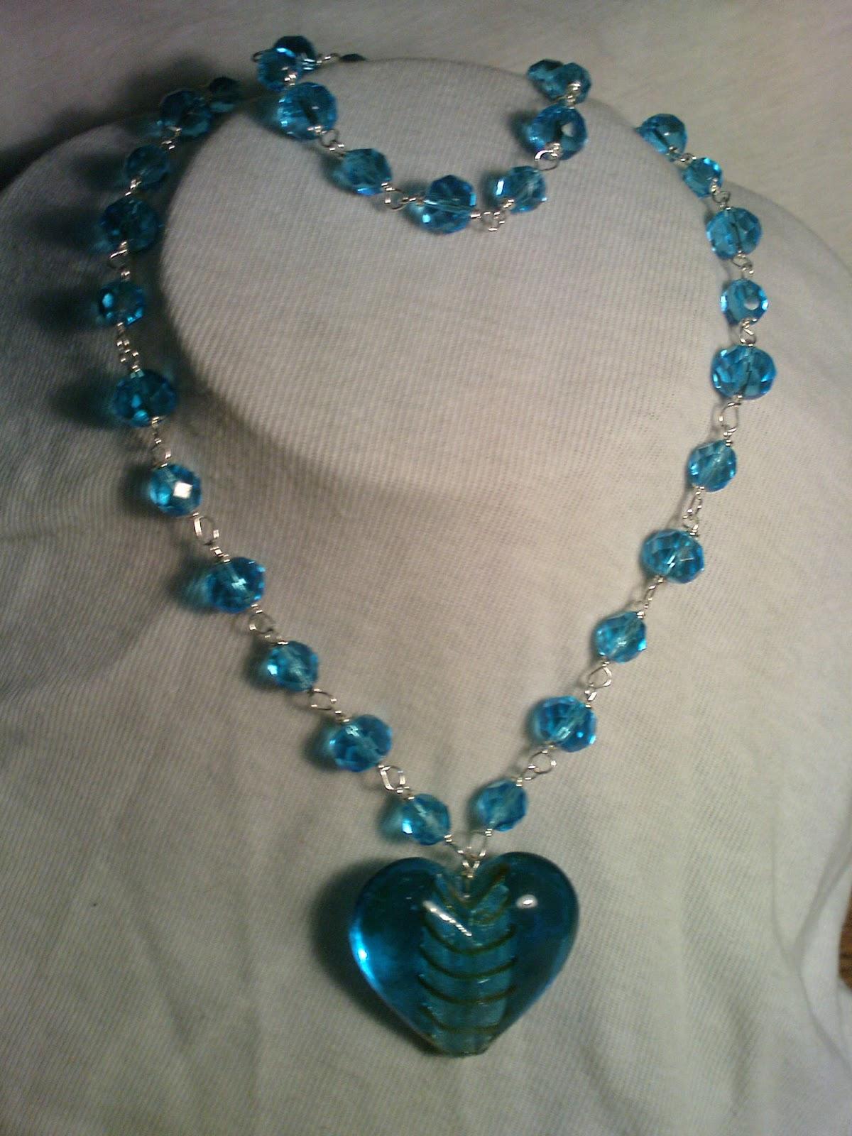 collar de cristales y murano incluye aretes pulsera y collar