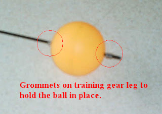 Rubber grommets and balls