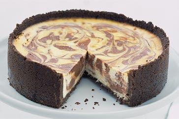 EasyBakes: Chocolate Swirled Baked Cheesecake