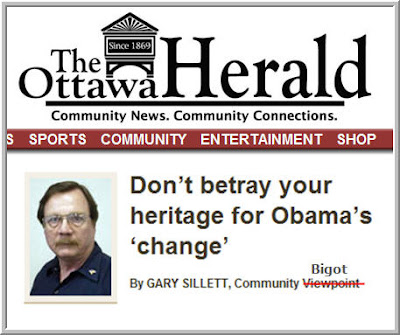 Gary Sillett, the Ottawa Herald, spreading lies about Barack Obama