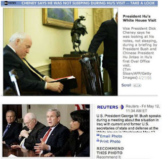 Cheney Asleep Again? ZZZZZzzzzzzz...