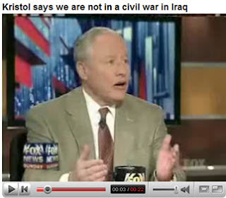Neocon artist Bill Kristol: 'We're Not In A Civil War' In Iraq