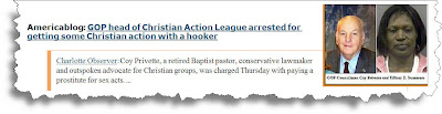 GOP head of Christian Action League arrested for getting some Christian action with a hooker