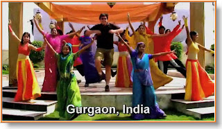 Matt Harding dances in Gurgaon India