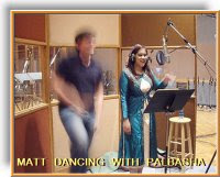 Matt Harding dancing with Palbasha Siddique recording Praan