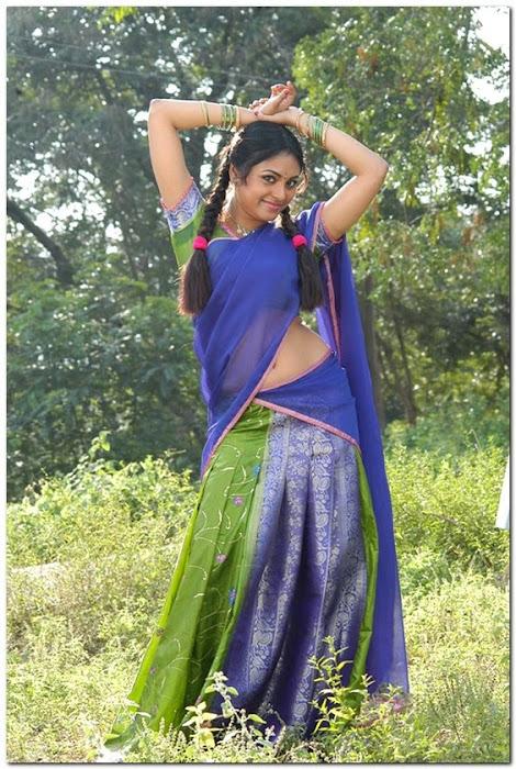 meenakshi girl ing her on half saree photo gallery