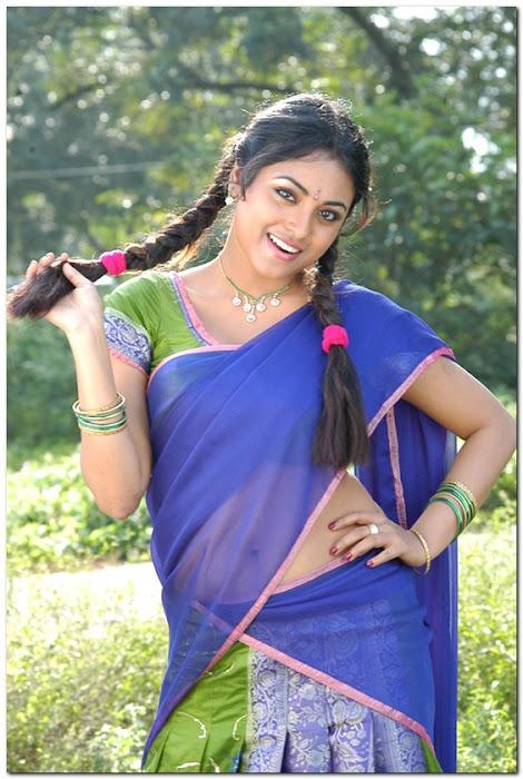meenakshi girl ing her on half saree actress pics