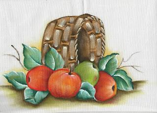 cesta de maças