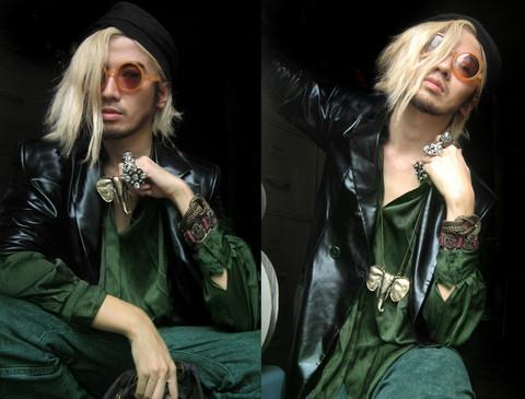Bleach Blonde Hair With Black Highlights. Bleach Blonde Hair With