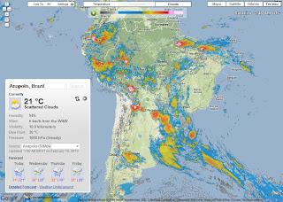 Serviço online de mapa meteorológico