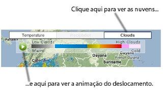Mapa meteorológico dinâmico e interativo