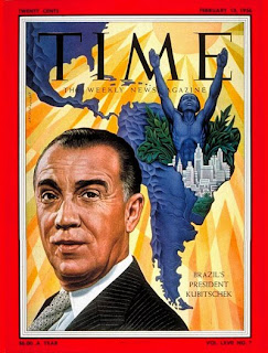 JK na capa da revista Time (1956)