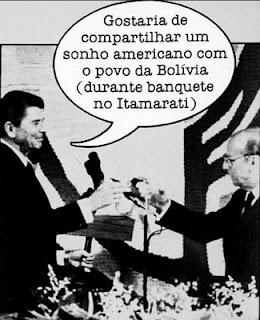 Gafe do ex-presidente Ronald Reagan em visita ao Brasil