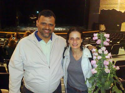 Denise Fraga após apresentação no Teatro TUCA