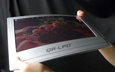 Tela flexível para e-Book readers desenvolvida pela Bridgestone (uma empresa de pneus)