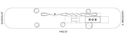 Pike Loop - visão superior