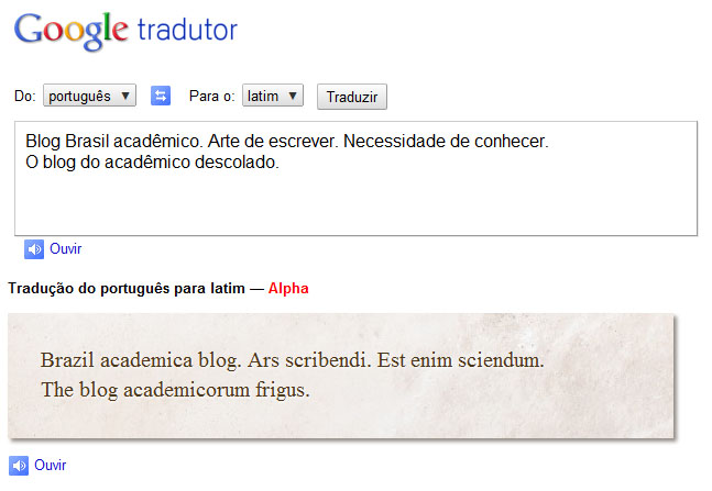 Armário Em Ingles Tradutor ~ Google traduz latim Brasil Acad u00eamico