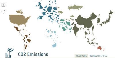 Emissões de CO2 pelo mundo