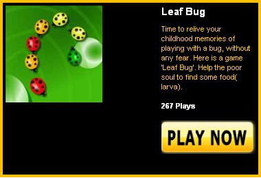 Leaf Bug - Online arcade game