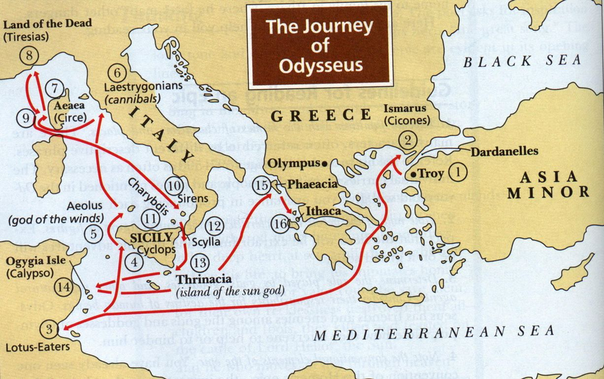 the role of women in the journey of odysseus In the works of art, odysseus is usually depicted as a fully grown man solving issues in one of his quests either in a company of his men or alone, he is depicted on journey from the odyssey or in the war events from the iliad.