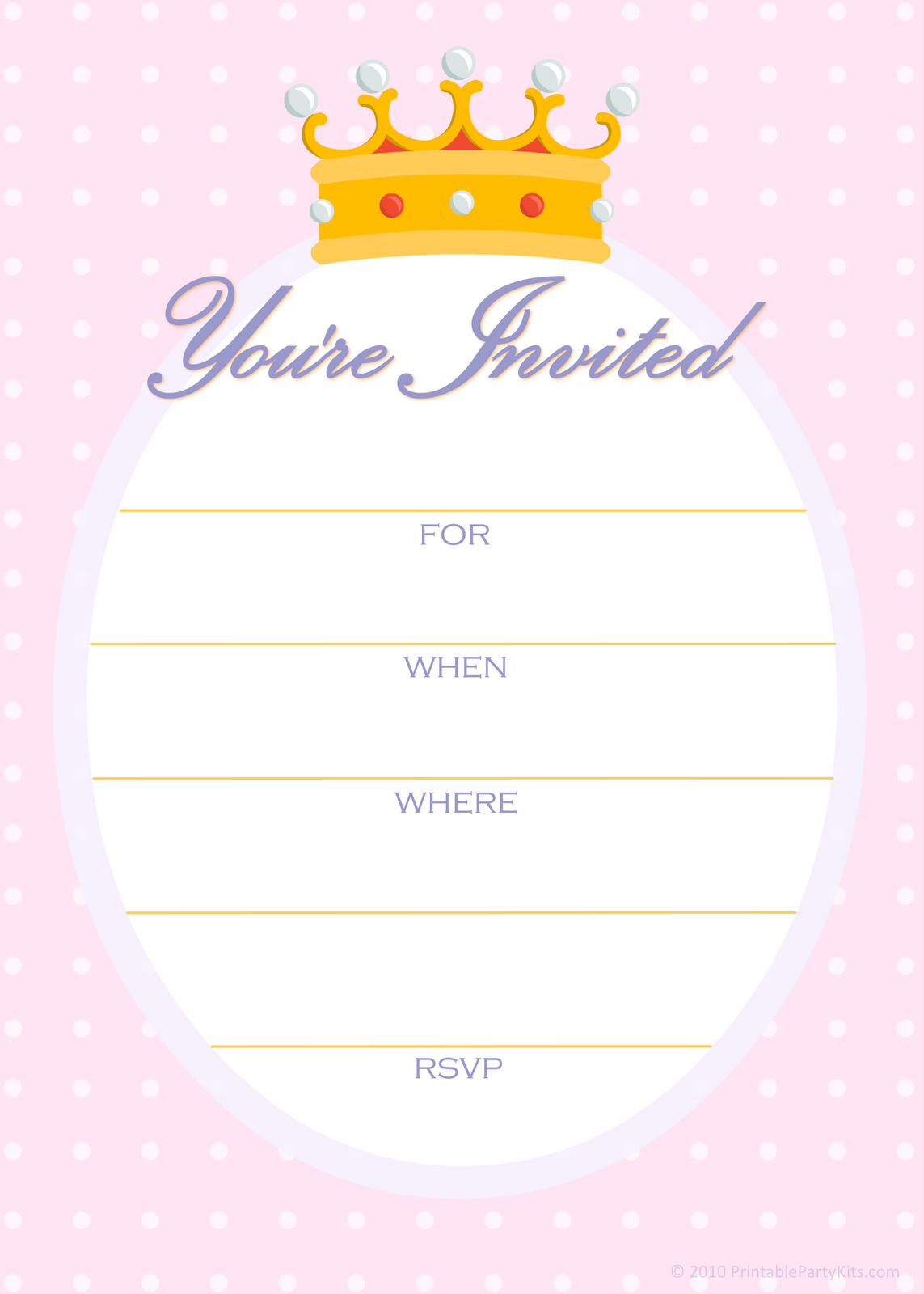 Click on the free printable princess party invitation template to see ...