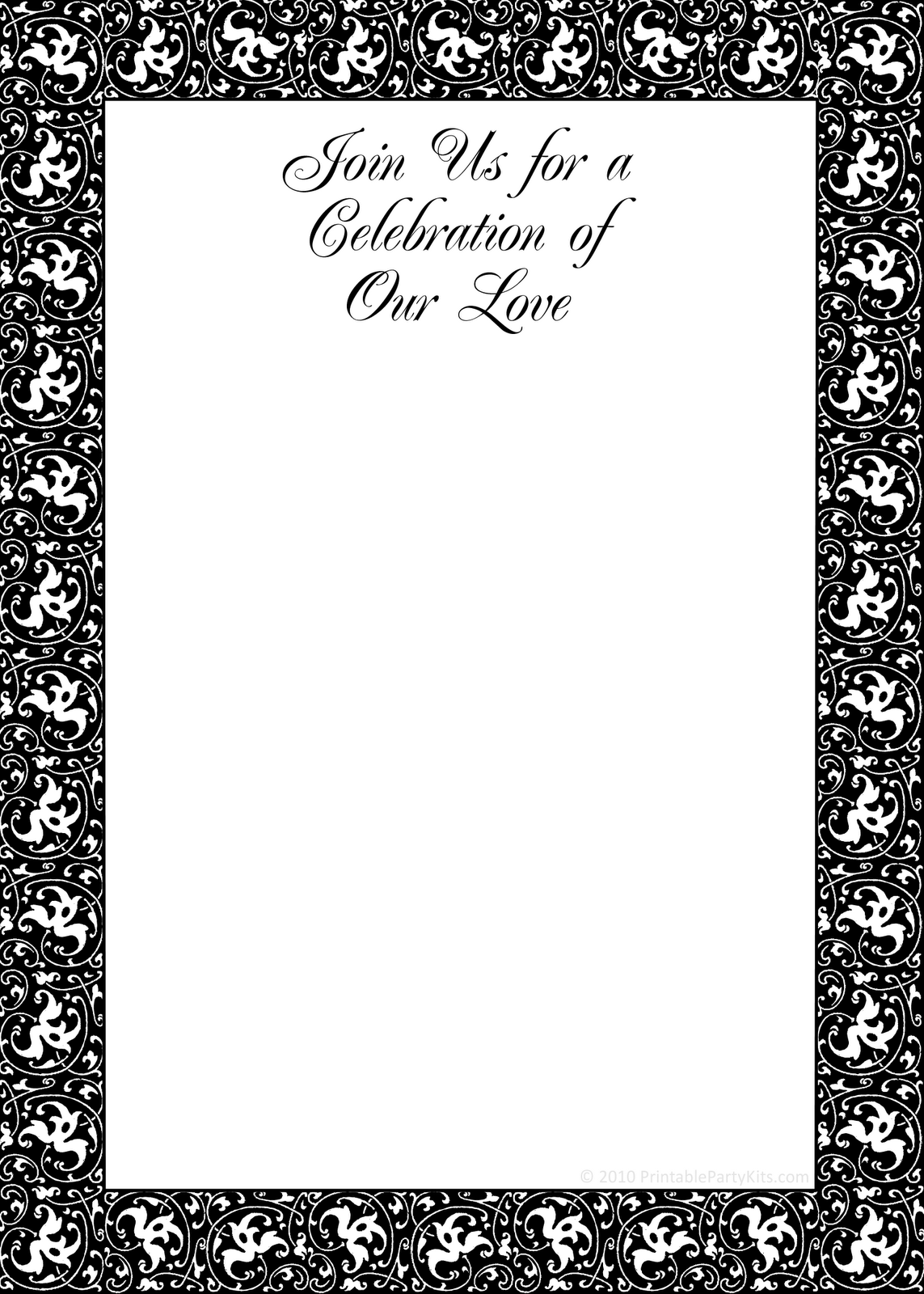 This black and white commitment ceremony invite would also be great as ...