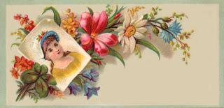 Victorian scrapbook embellishment vintage girl calling card