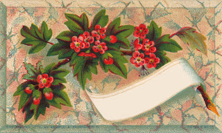 Victorian scrapbook embellishment -- flower calling card