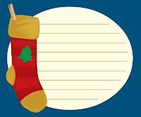 Christmas scrapbook journaling card