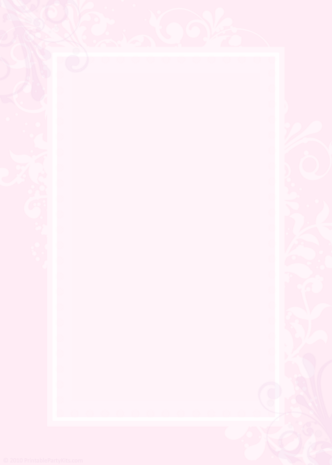 Pink Blank Wedding Invitation Templates