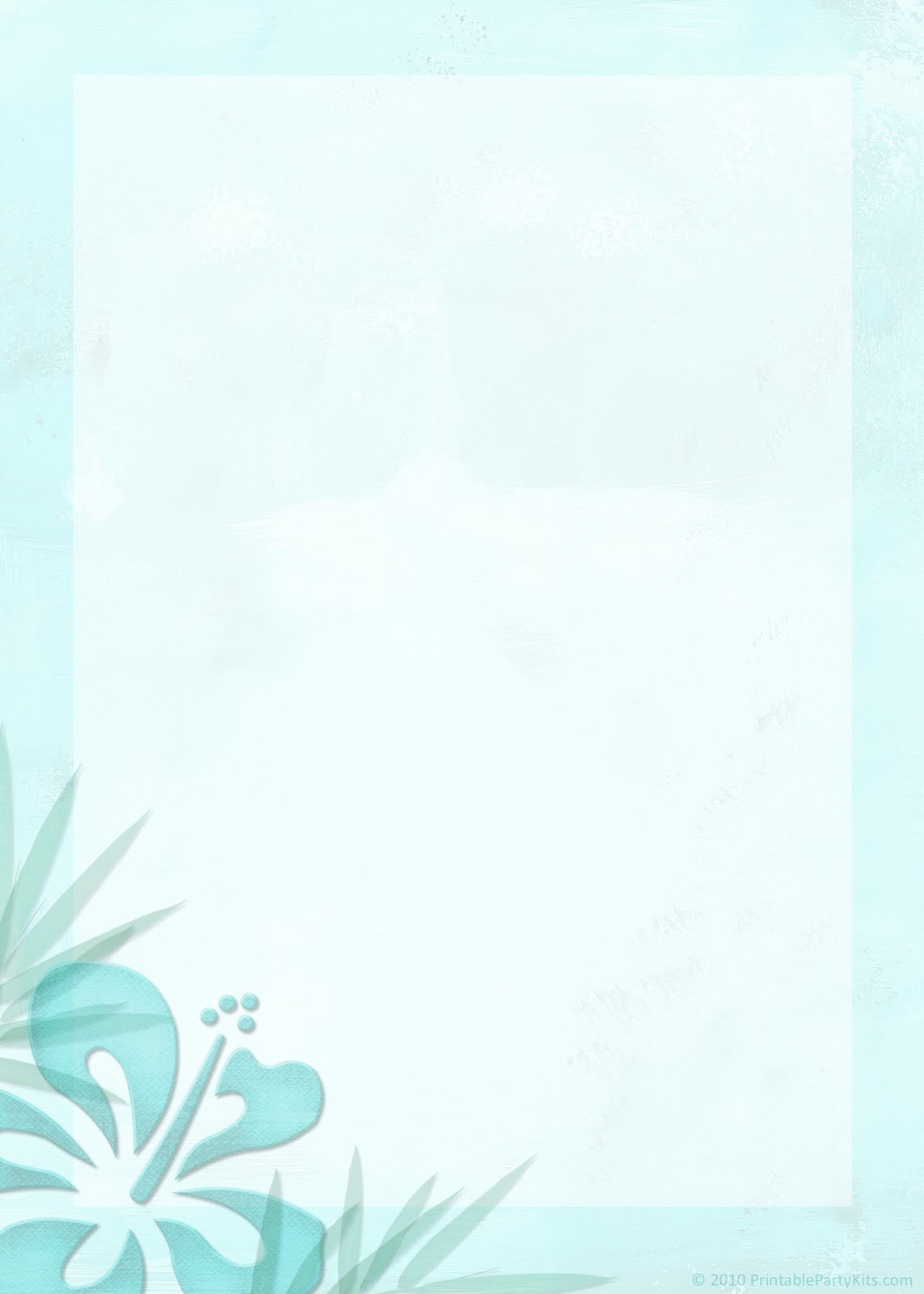... : Printable Tropical Beach Theme Wedding Invitation Template