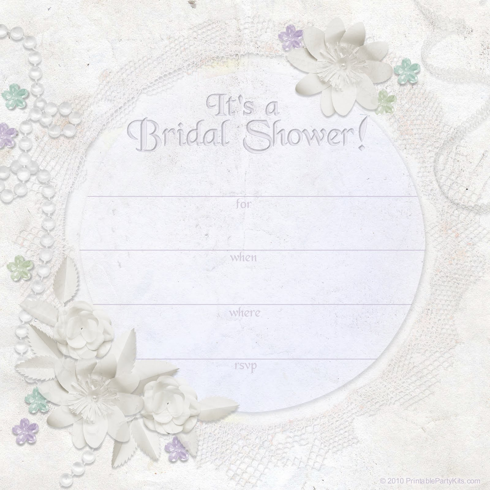 bridal shower templates free