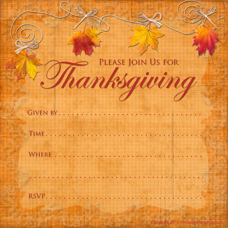 Click on the free printable Thanksgiving invitation template to see it  title=