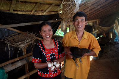 Yuri Lahuna and her husband Asu are living a vastly improved life since Heifer's projects have made their way into Thailand