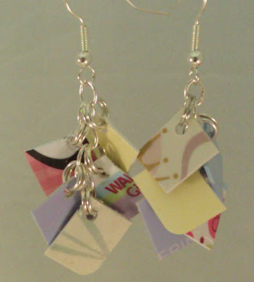Pastel Mini Take Credit Earrings