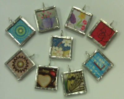 My first soldered charms