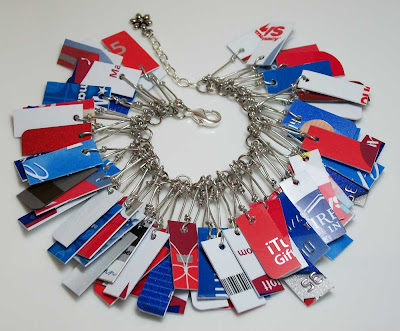 Red, White and Blue Take Credit Bracelet