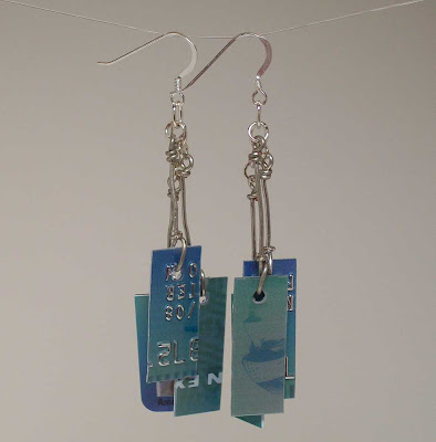 Aqua Take Credit Earrings