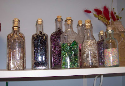 Bead storage in old bottles