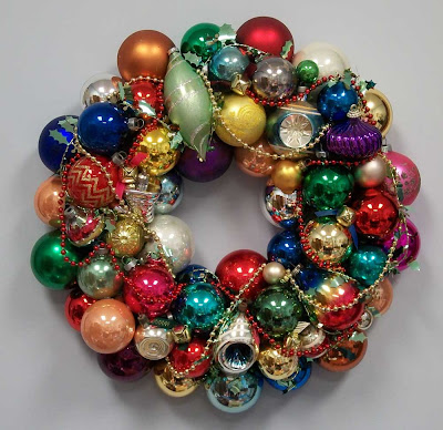 Vintage ornament wreath #8