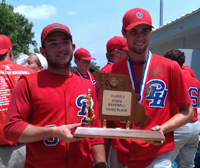 Team captains with the trophy