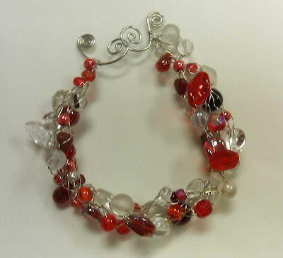 Finished bracelet with clasp closed