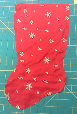 Stocking lining sections sewn together
