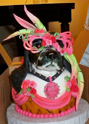 Karen Portaleo The Brilliant Cake Artist At Highland Bakery Atlanta GA Fabricated This Frosted Dog In Drag For Elton Johns Birthday Which Is Today