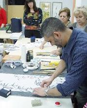 Taller de sumi-e de Mariano Soto. Círculo de Bellas Artes de Palma. Abril 2008