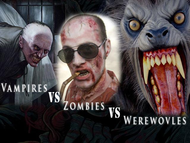 Vampires vs Zombies VS Zombie Vs Vampire Vs Werewolf