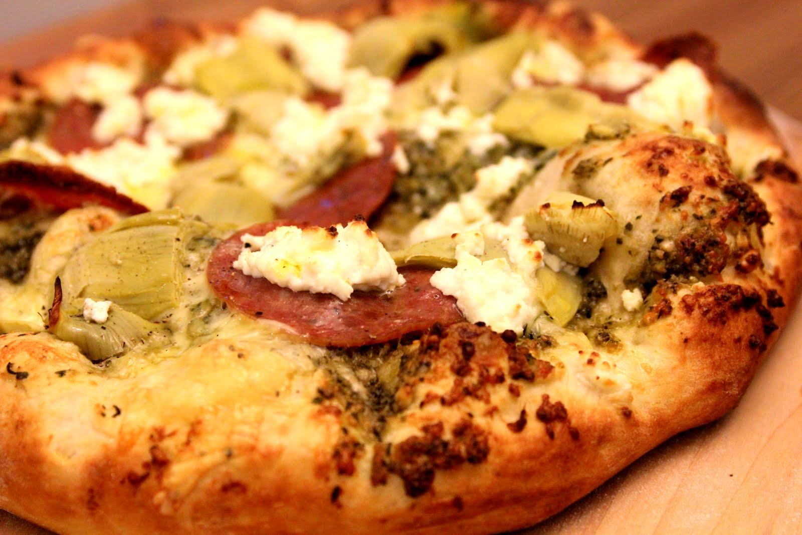 Pesto Pizza Recipe — Dishmaps