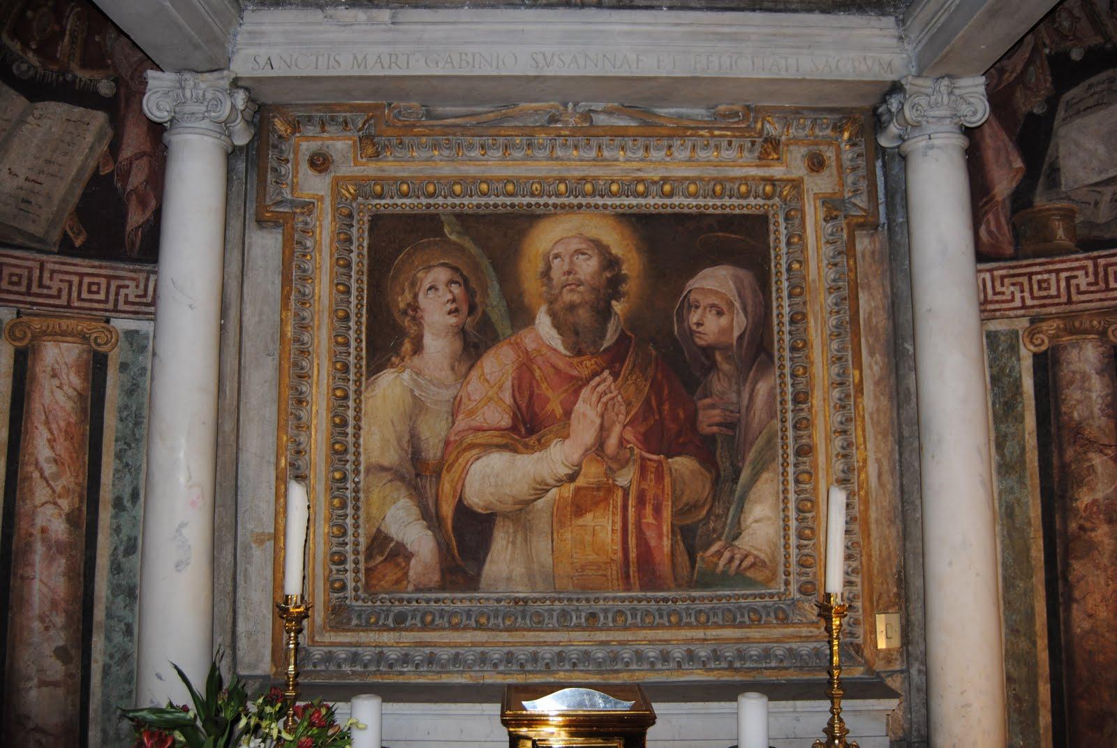 De hellige Gabinus, Susanna og Felicitas, fra Susannas grav i Santa Susanna